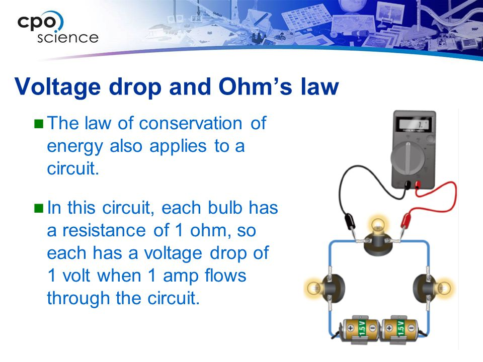 Voltage drop and Ohm's law
