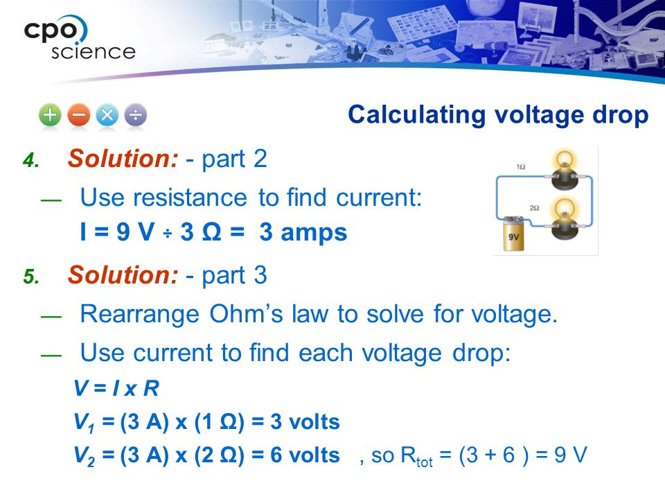 Calculating voltage drop