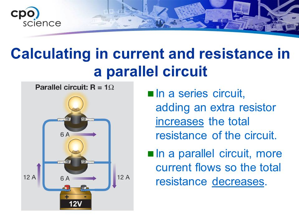 Calculating in current and resistance in a parallel circuit