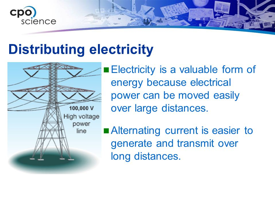 Distributing electricity