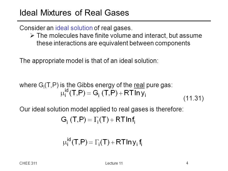 Ideal Mixtures of Real Gases