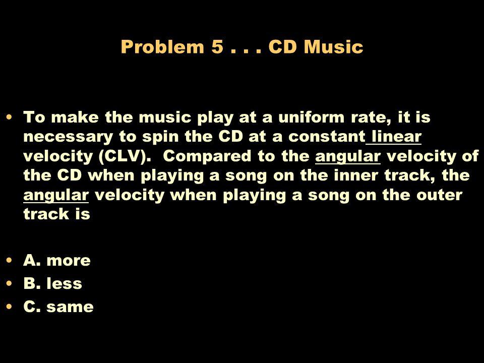 Problem 5 . . . CD Music