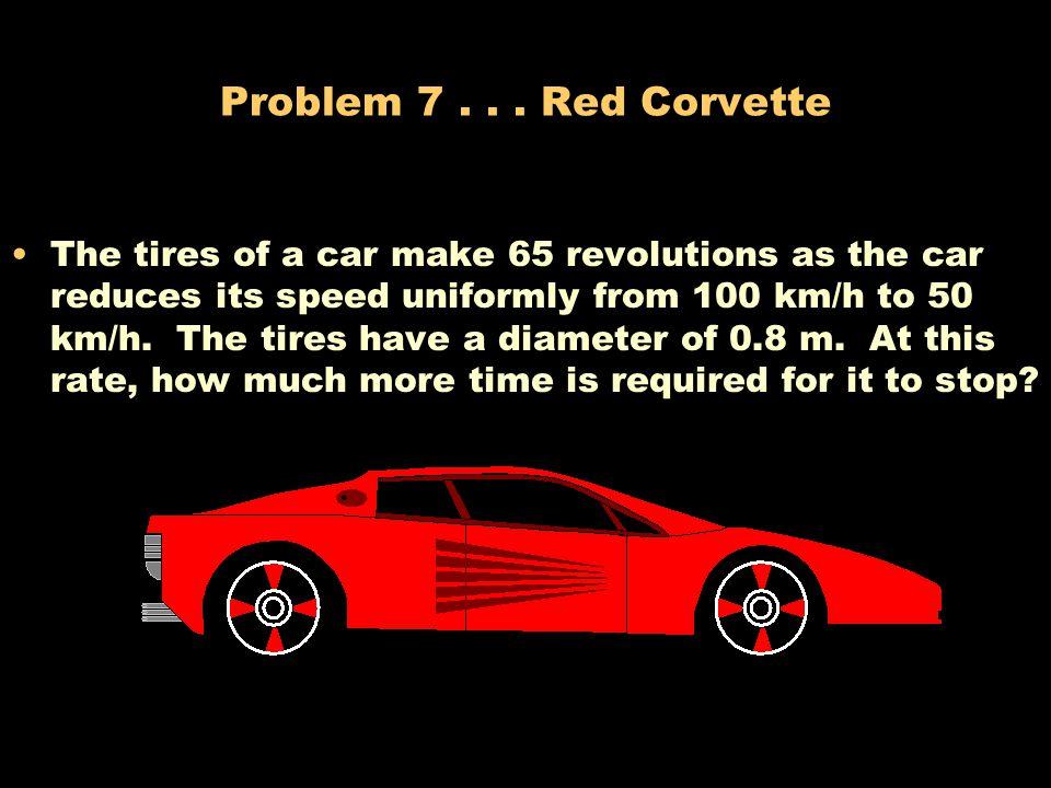 Problem 7 . . . Red Corvette