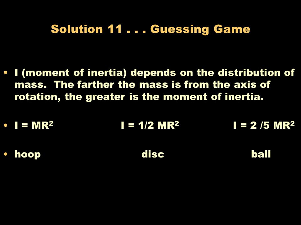 Solution Guessing Game