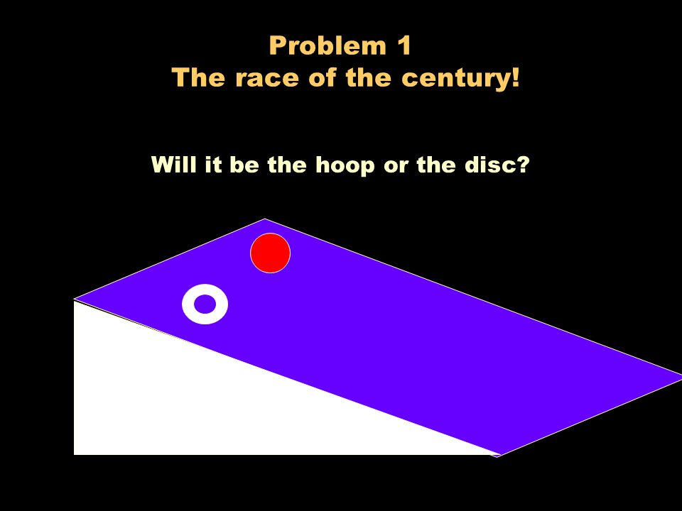 Problem 1 The race of the century!