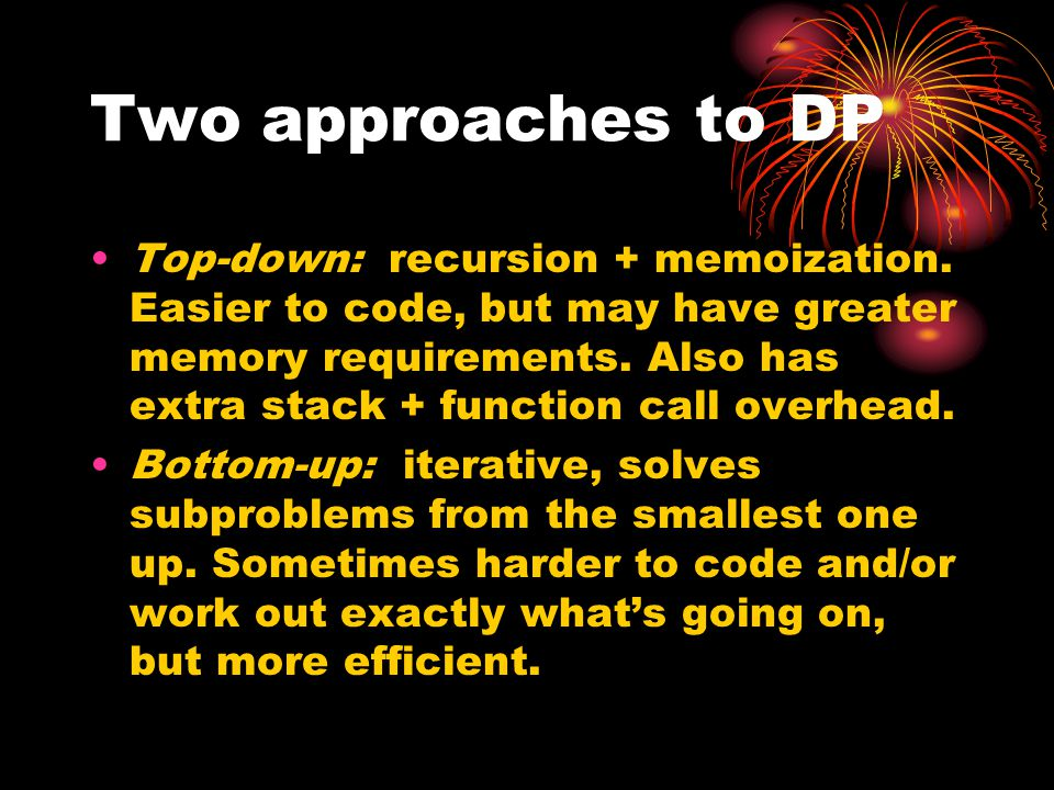 Two approaches to DP