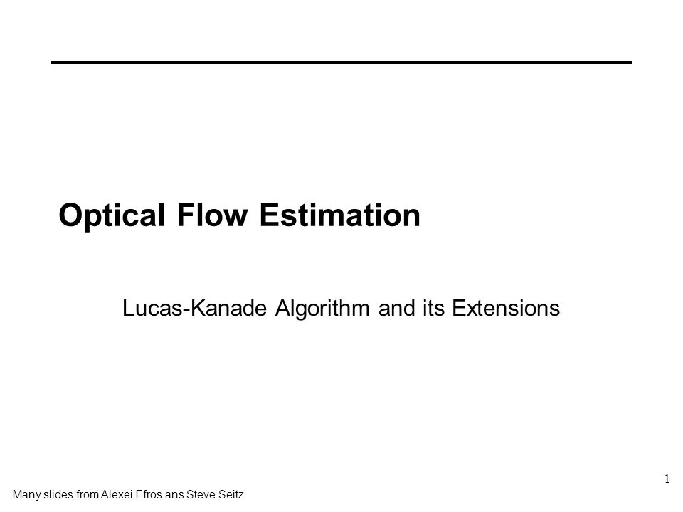 Optical Flow Estimation