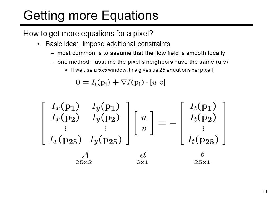 Getting more Equations