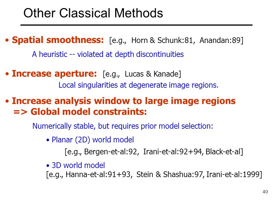 Other Classical Methods