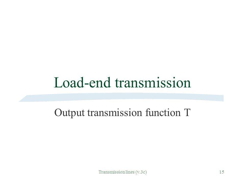 Load-end transmission