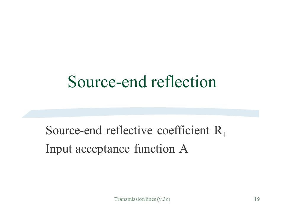Source-end reflection