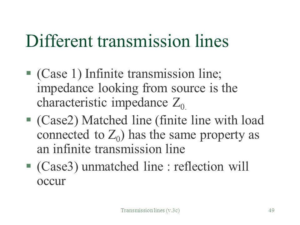 Different transmission lines