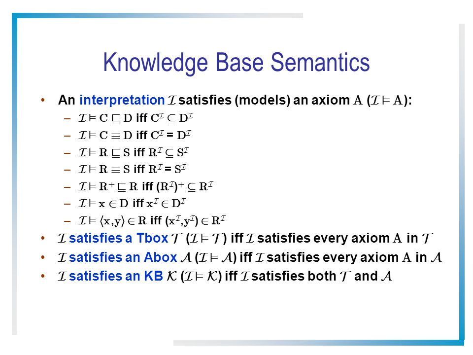 Knowledge Base Semantics