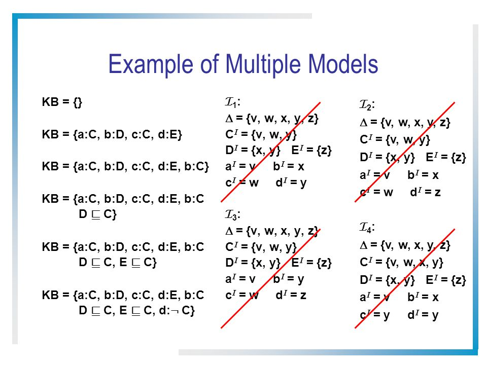 Example of Multiple Models