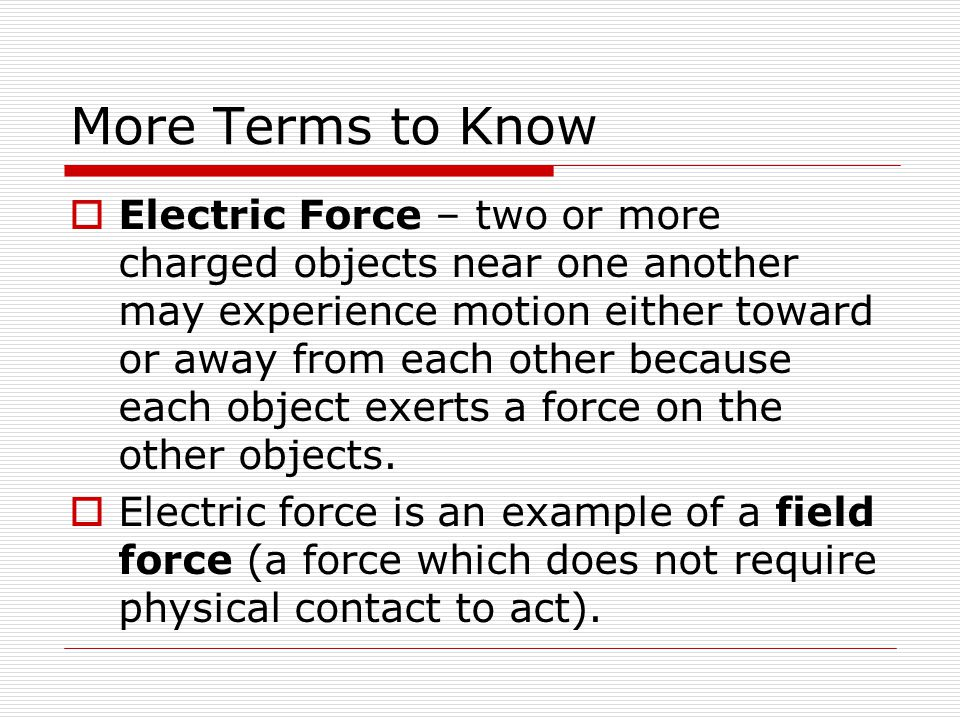 More Terms to Know