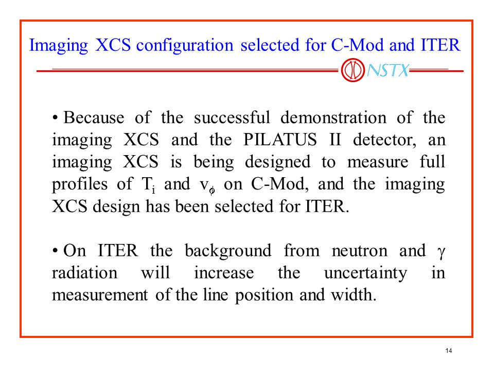 Imaging XCS configuration selected for C-Mod and ITER
