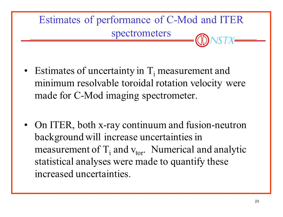 Estimates of performance of C-Mod and ITER spectrometers