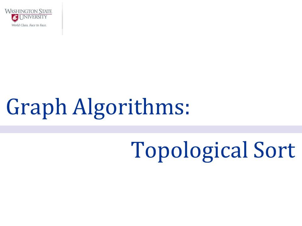 Graph Algorithms: Topological Sort