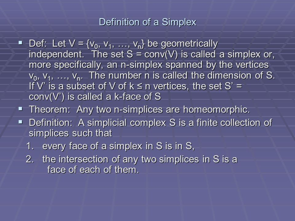 Definition of a Simplex