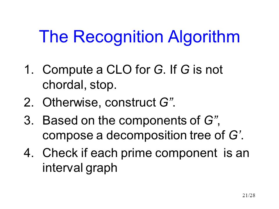 The Recognition Algorithm
