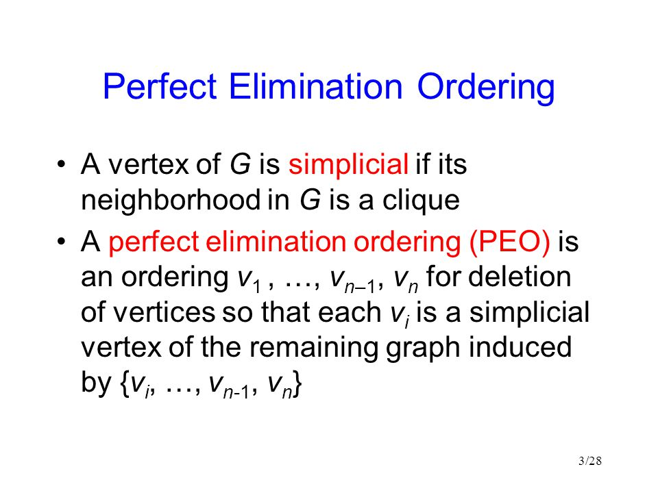 Perfect Elimination Ordering