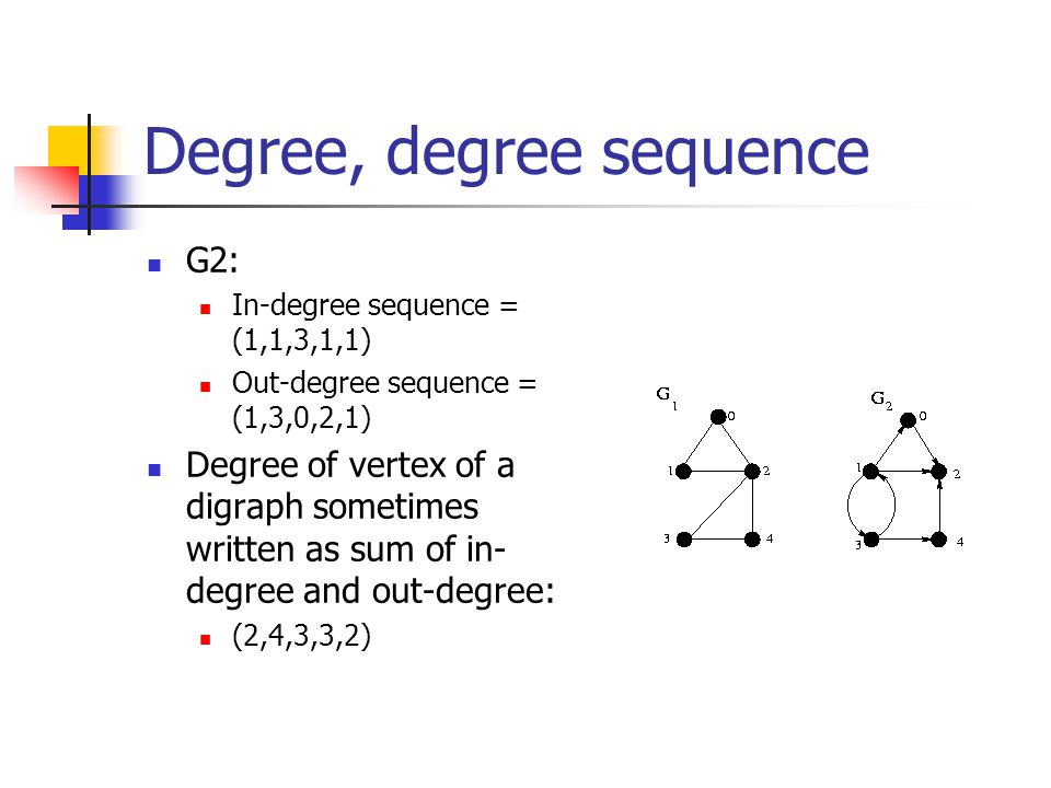 Degree, degree sequence