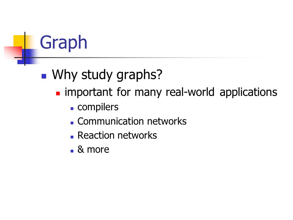 Graph Why study graphs important for many real-world applications