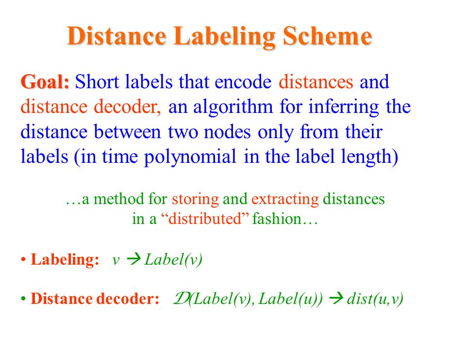 Distance Labeling Scheme