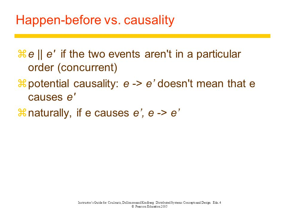 Happen-before vs. causality