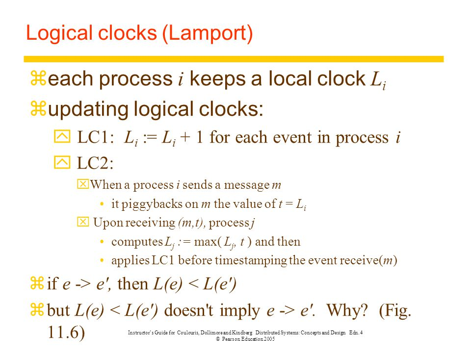 Logical clocks (Lamport)