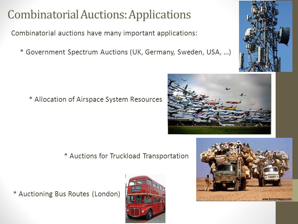 Combinatorial Auctions: Applications