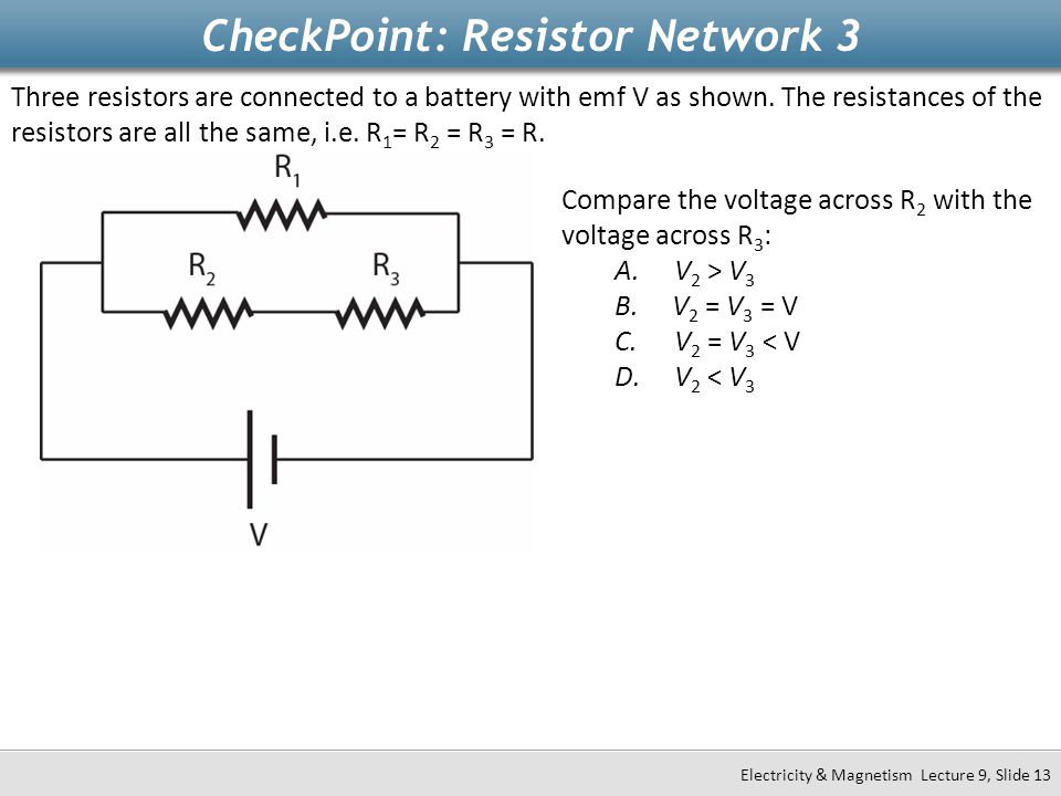 CheckPoint: Resistor Network 3