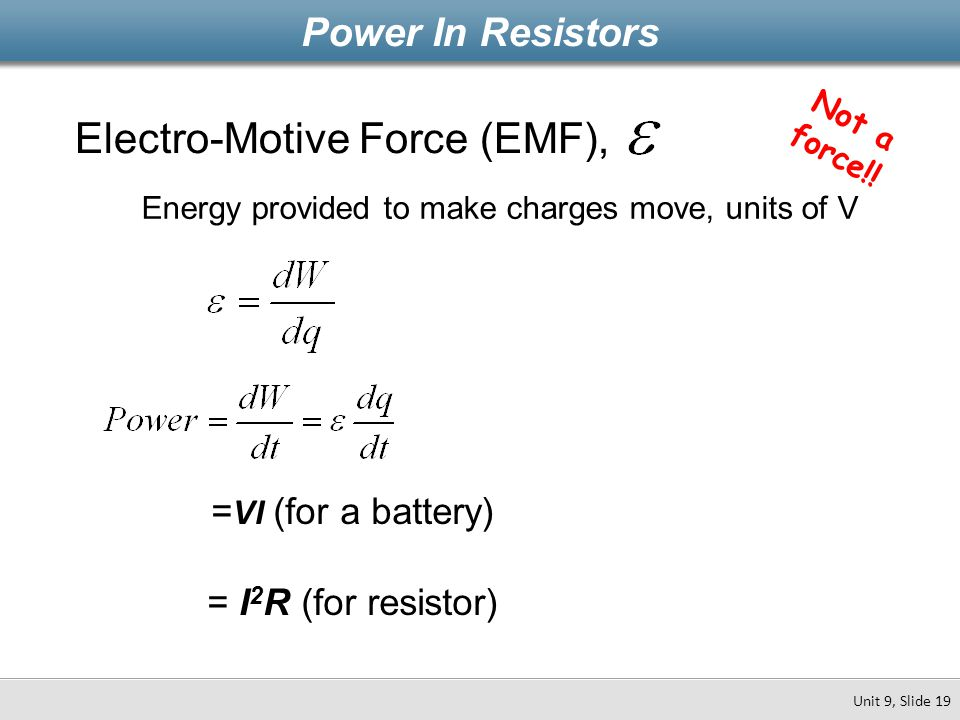 Electro-Motive Force (EMF),