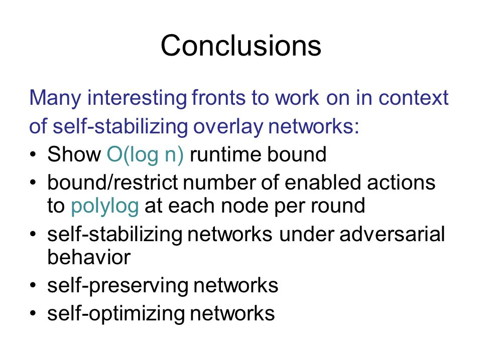 Conclusions Many interesting fronts to work on in context