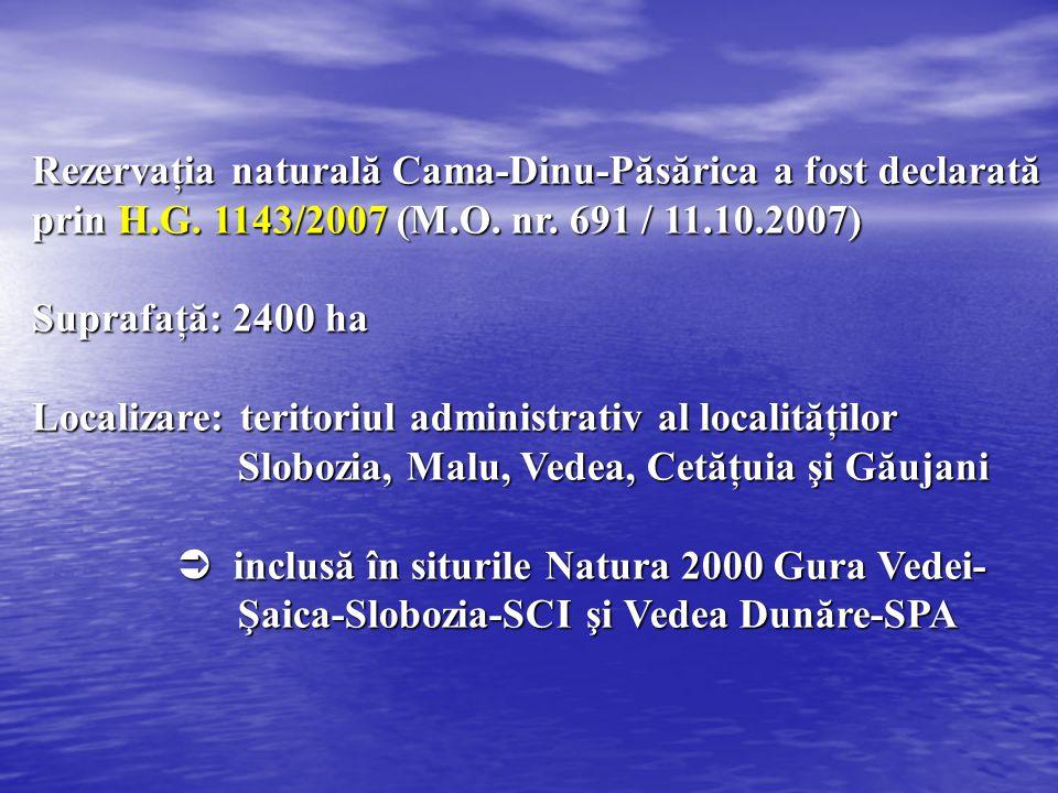 Rezervaţia naturală Cama-Dinu-Păsărica a fost declarată prin H. G