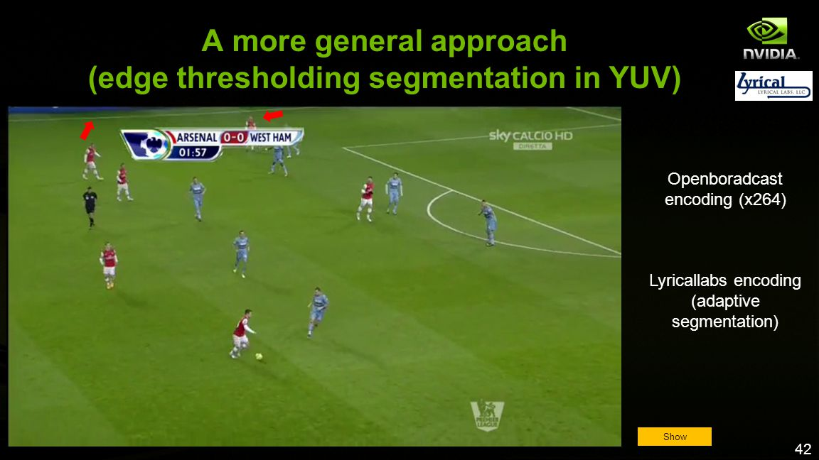 A more general approach (edge thresholding segmentation in YUV)