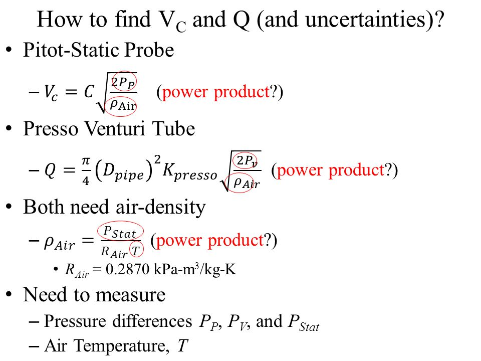 How to find VC and Q (and uncertainties)