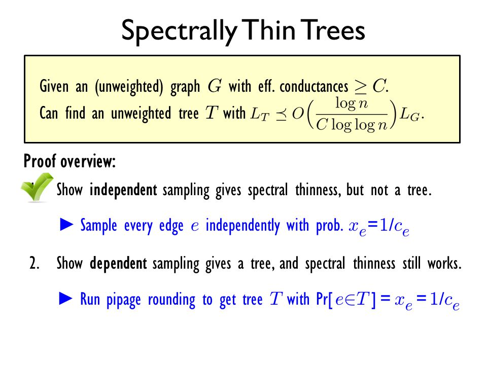 Spectrally Thin Trees Proof overview:
