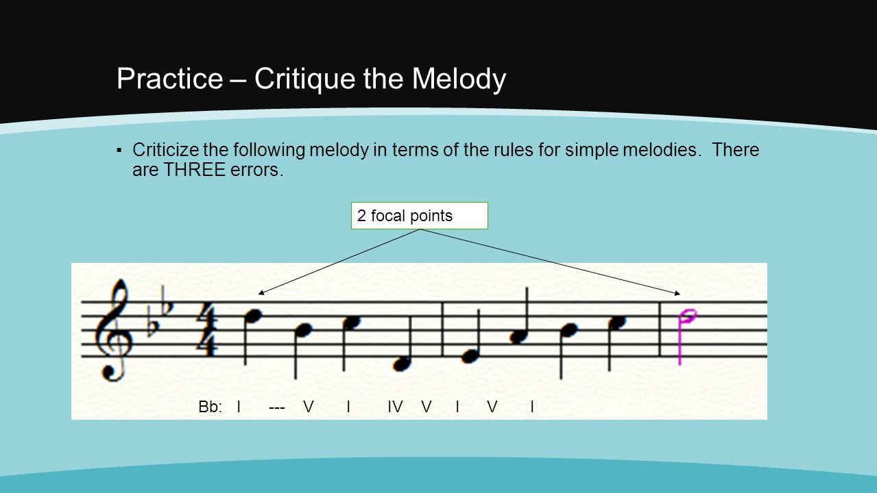 Practice – Critique the Melody