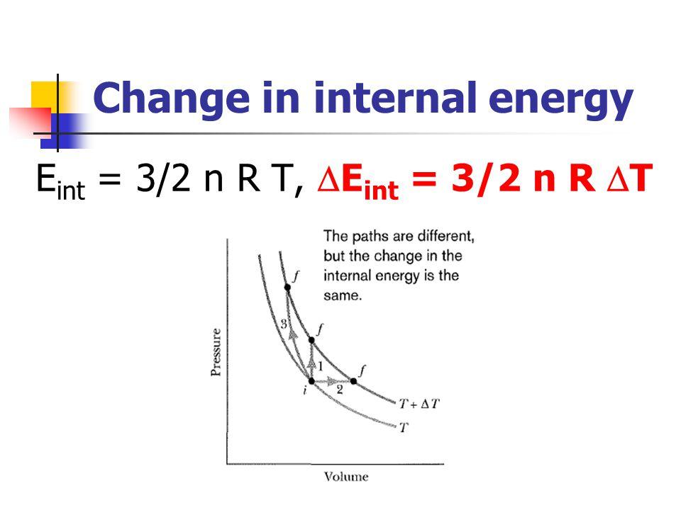 Change in internal energy