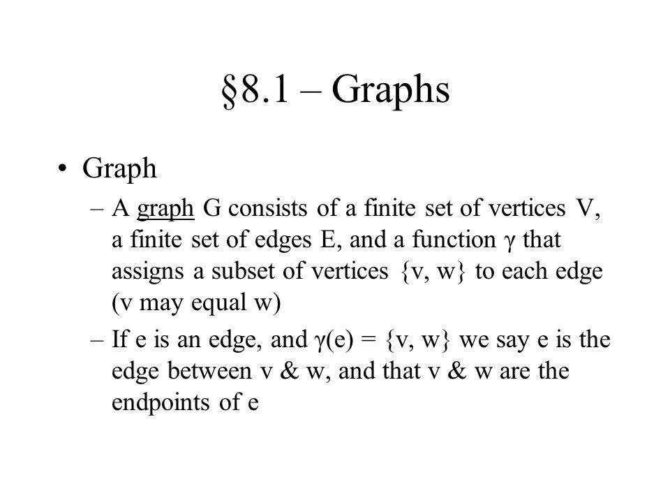 §8.1 – Graphs Graph.