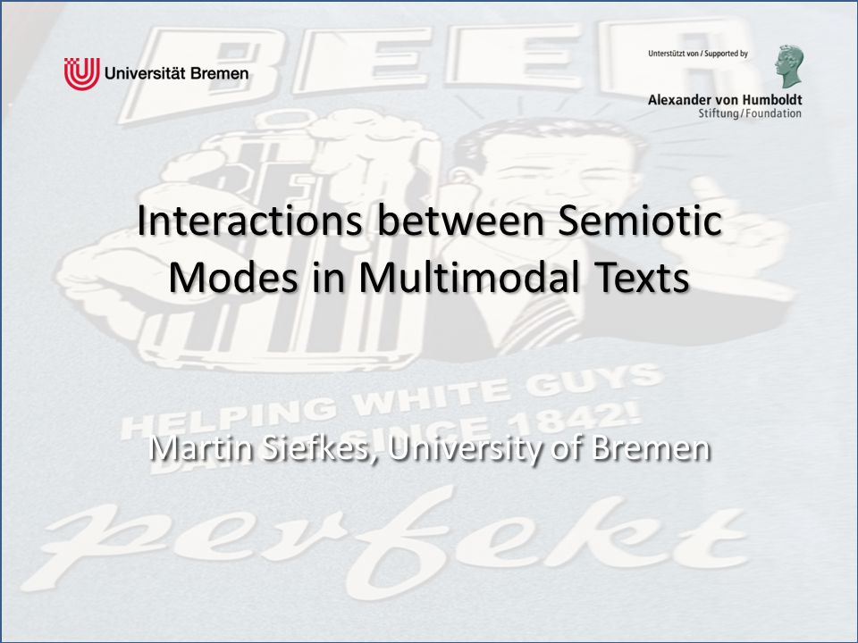 Interactions between Semiotic Modes in Multimodal Texts