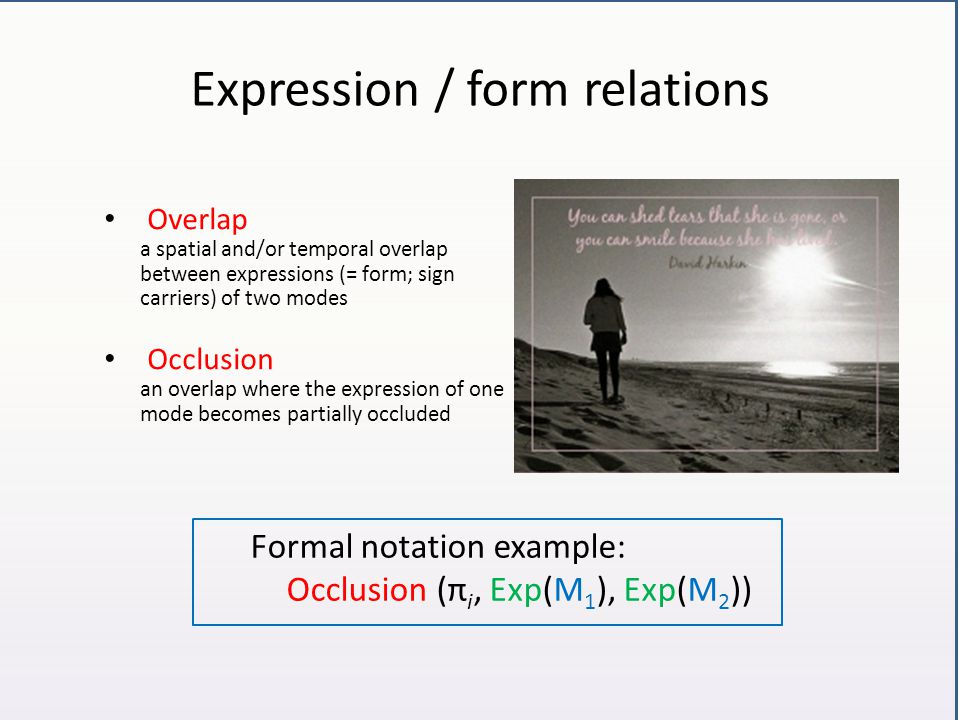 Expression / form relations
