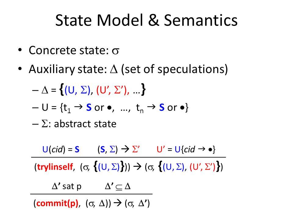 State Model & Semantics