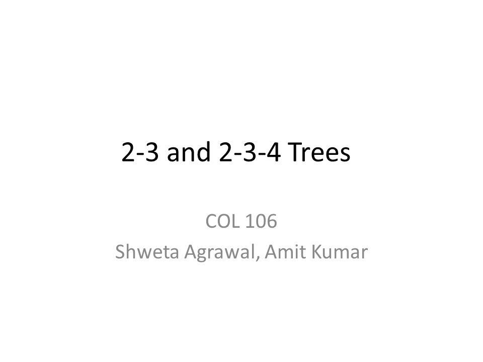 COL 106 Shweta Agrawal, Amit Kumar