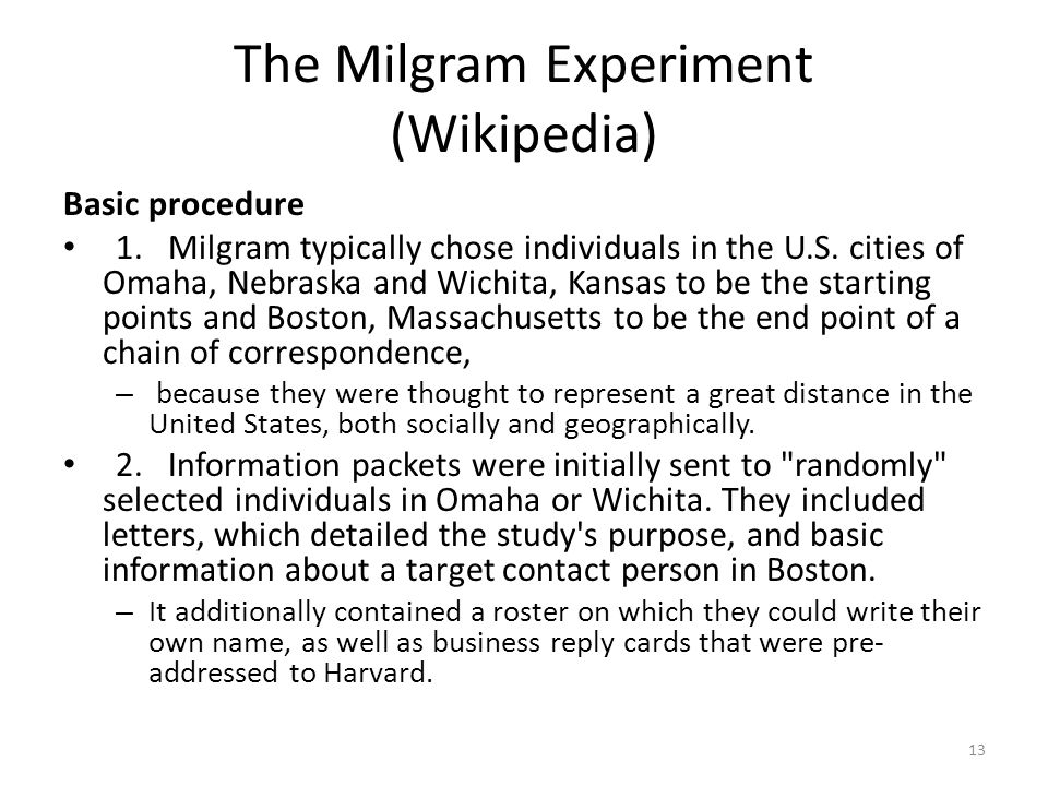 The Milgram Experiment (Wikipedia)