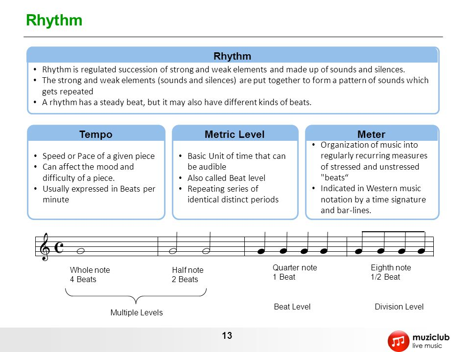 Rhythm Rhythm Tempo Metric Level Meter