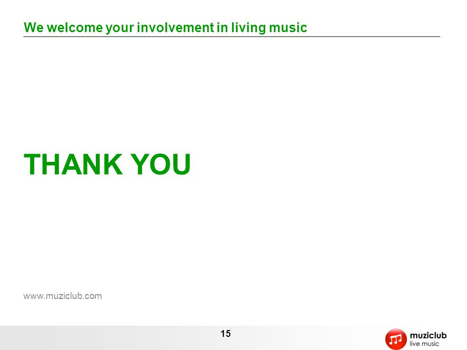 We welcome your involvement in living music
