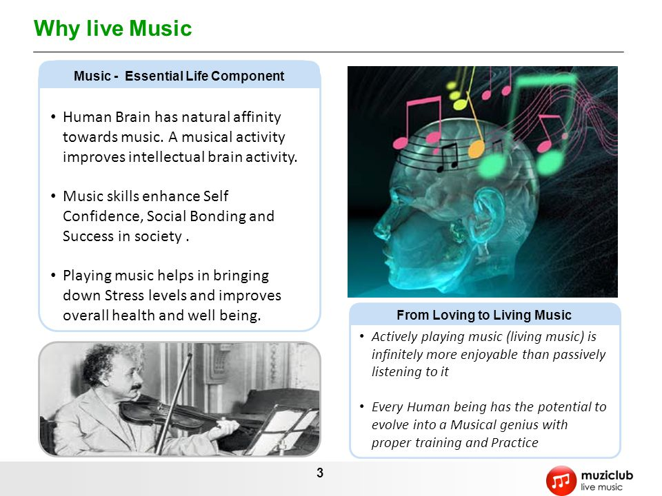 Music - Essential Life Component From Loving to Living Music