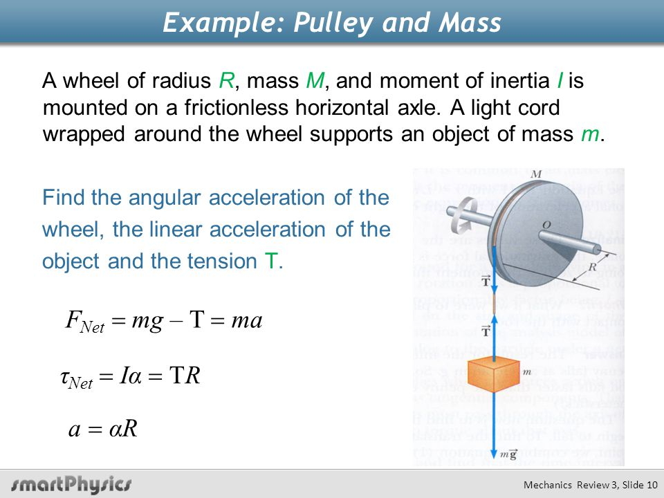 Example: Pulley and Mass